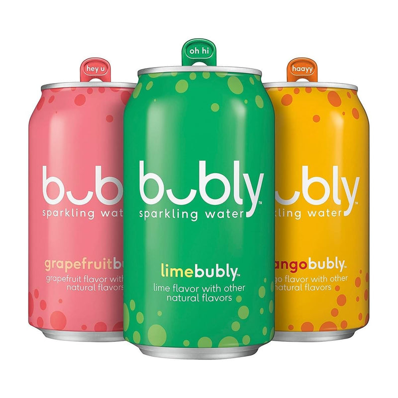 bubly Sparkling Water Tropical Thrill Variety Pack