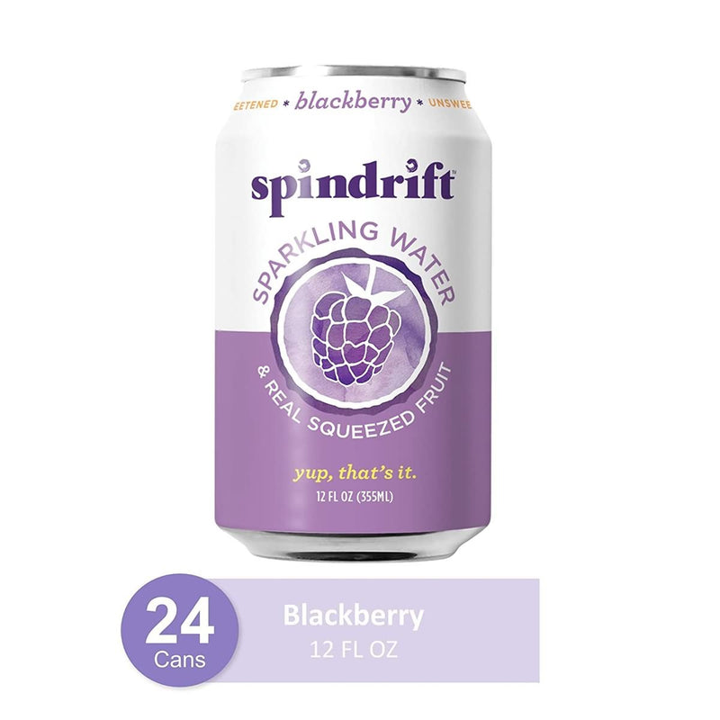 Spindrift Blackberry Flavored Sparkling Water