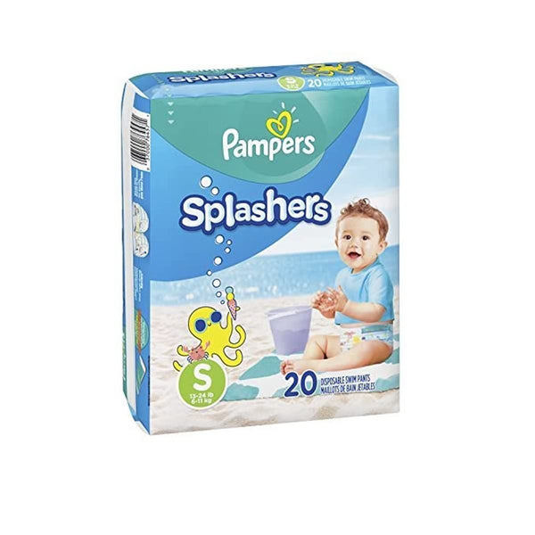 Swim Diapers Size 3 (13-24 lb) - Pampers Splashers Disposable Swim Pants