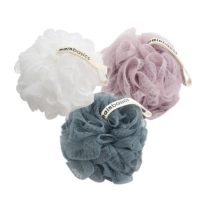 MainBasics Bath Shower Loofah Sponge Pouf Body Scrubber Exfoliator