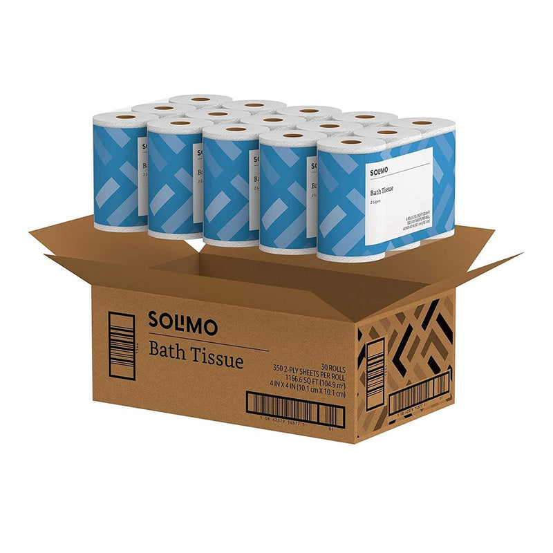 Amazon Brand - Solimo 2-Ply Toilet Paper