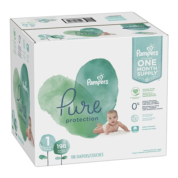 Diapers Pampers Pure Protection Disposable Baby Diapers