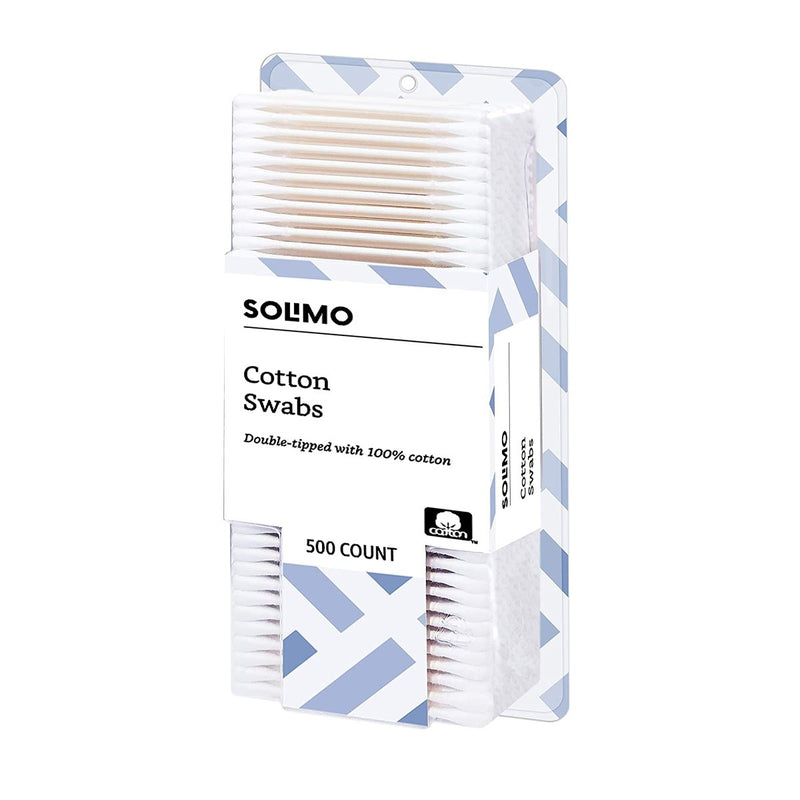 Amazon Brand - Solimo Cotton Swabs