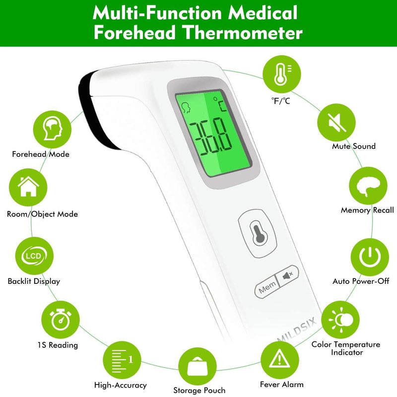 MILDSIX Forehead Thermometer for Fever