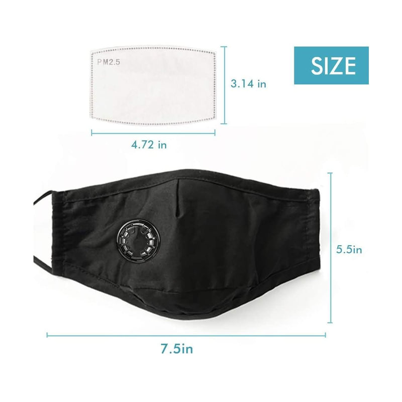 HMIAO 3 Pack PM2.5 Reusable Dust Mask