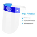 Safety Face Shield 2 Pack All-Round Protection Cap with Clear Wide Visor
