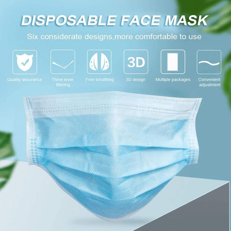 Disposable 3-Ply Face Cover with EarloopS