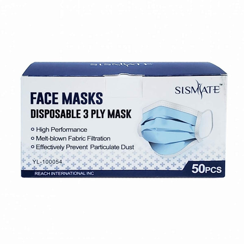 Sismate Disposable 3 Ply Face Mask