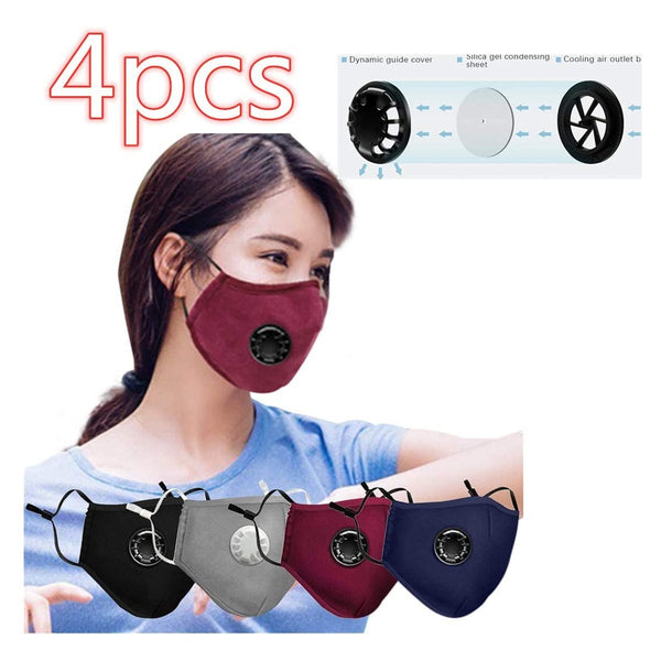 4pcs Reusable Face Másk Bandanas