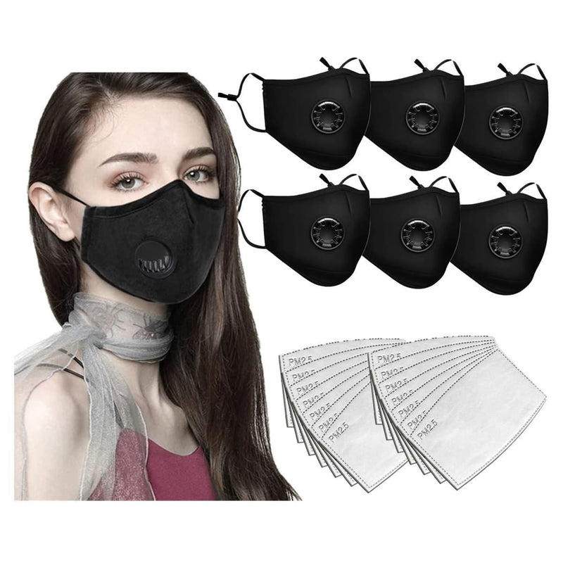 Face Bandanas with Breathing valve + Activated Carbon Filter