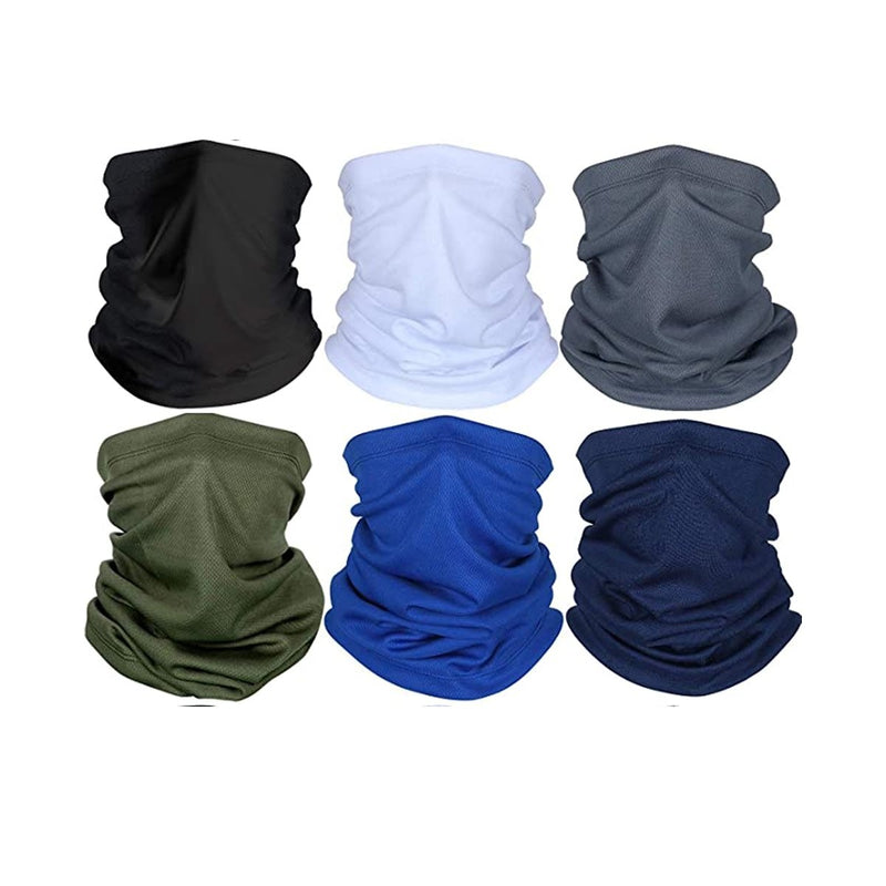 Alonsoo 6 Pcs Neck Gaiter Face Scarf