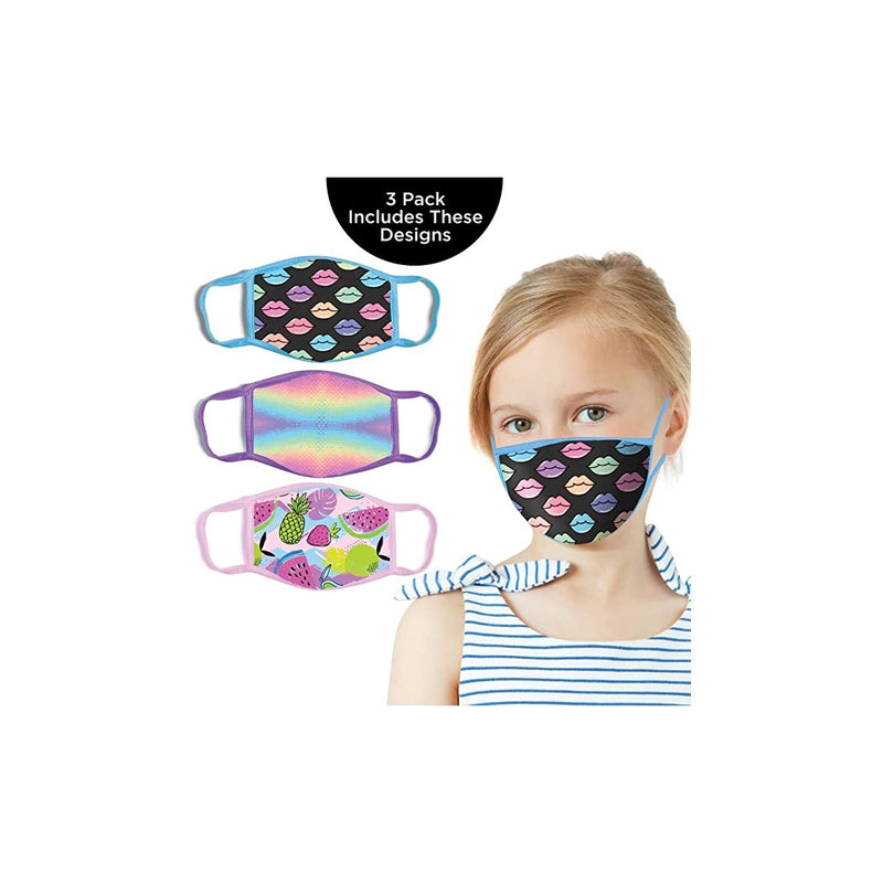 ABG Accessories Girls' 3-Pack Kid Fashionable Germ Protection