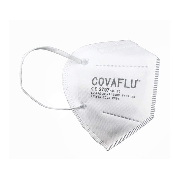 COVAFLU KN95 Disposable Fold Flat Face Mask