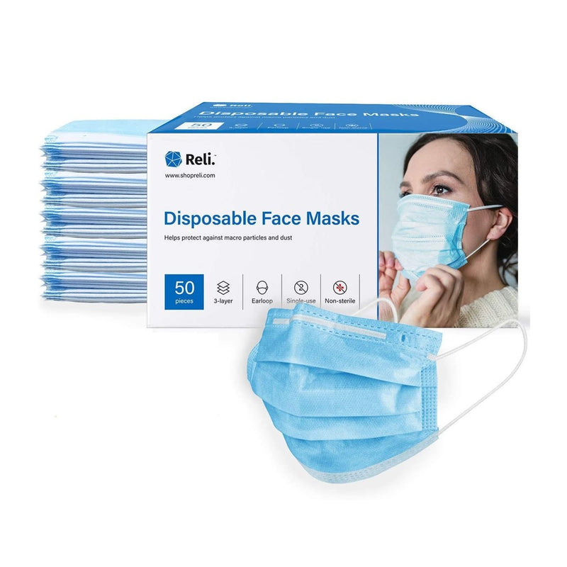 Reli. Disposable Face Mask Protection with Filter Layer