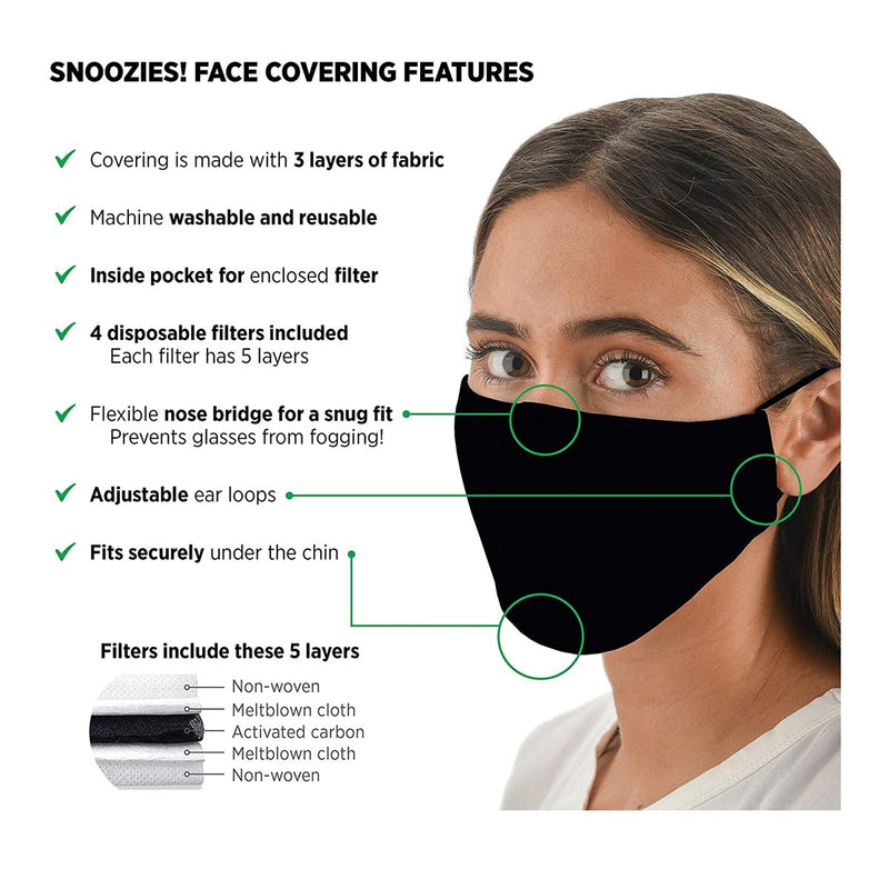 Snoozies Face Coverings for Women & Men