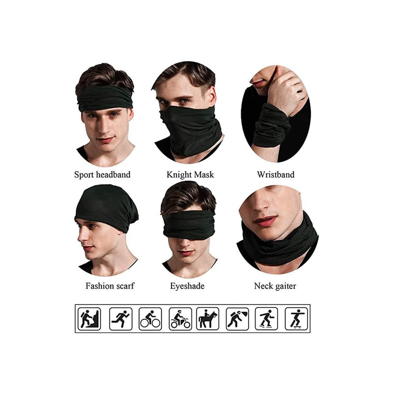 FAYBOX Magic Wide Wicking Headbands Outdoor Headwear Bandana