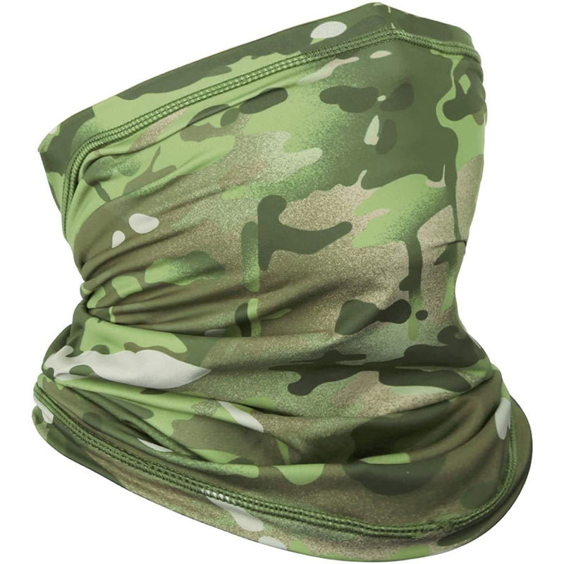 Achiou Neck Gaiter Face Scarf Mask All-Terrain Camouflage