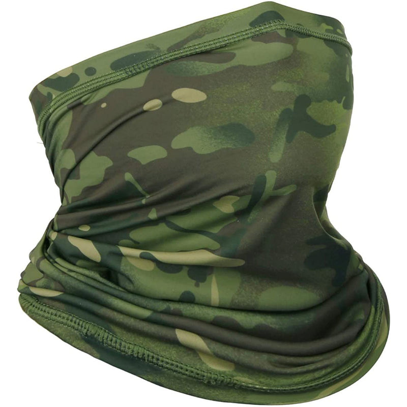 Achiou Neck Gaiter Face Scarf Mask Jungle Camouflage