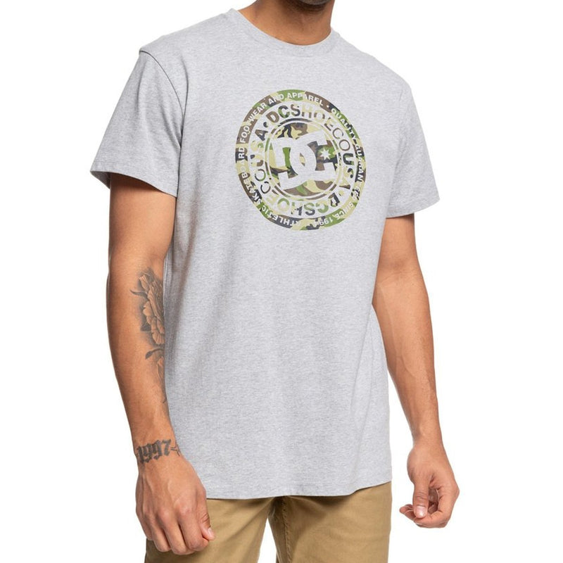 DC Circle Star Men's Short-Sleeve Shirts Grey Heather / Camo