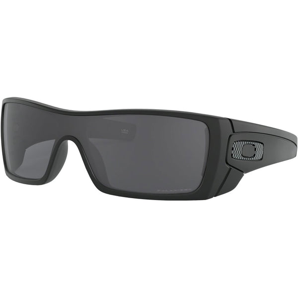 Oakley Batwolf Sunglasses Matte Black / Grey Polarized #color_Matte Black / Grey Polarized