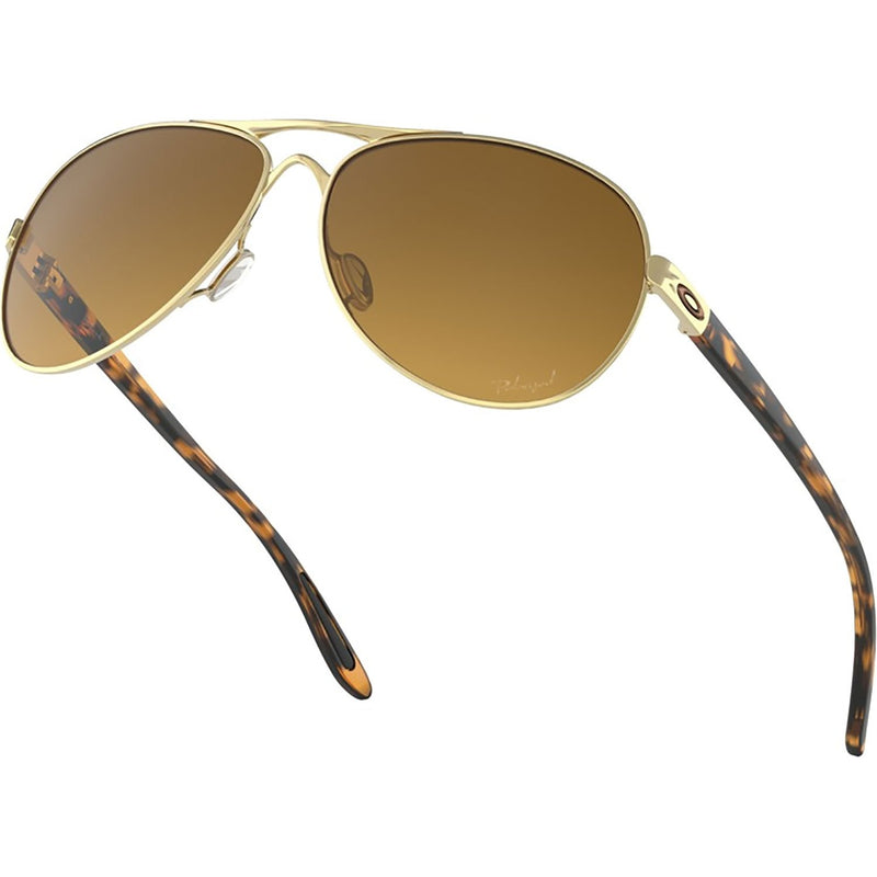 Oakley Feedback Sunglasses Polished Gold / Brown Gradient Polarized