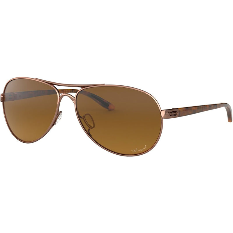 Oakley Feedback Sunglasses Rose Gold / Brown Gradient Polarized