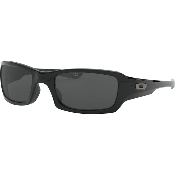 Oakley Fives Squared Sunglasses Polished Black / Grey #color_Polished Black / Grey