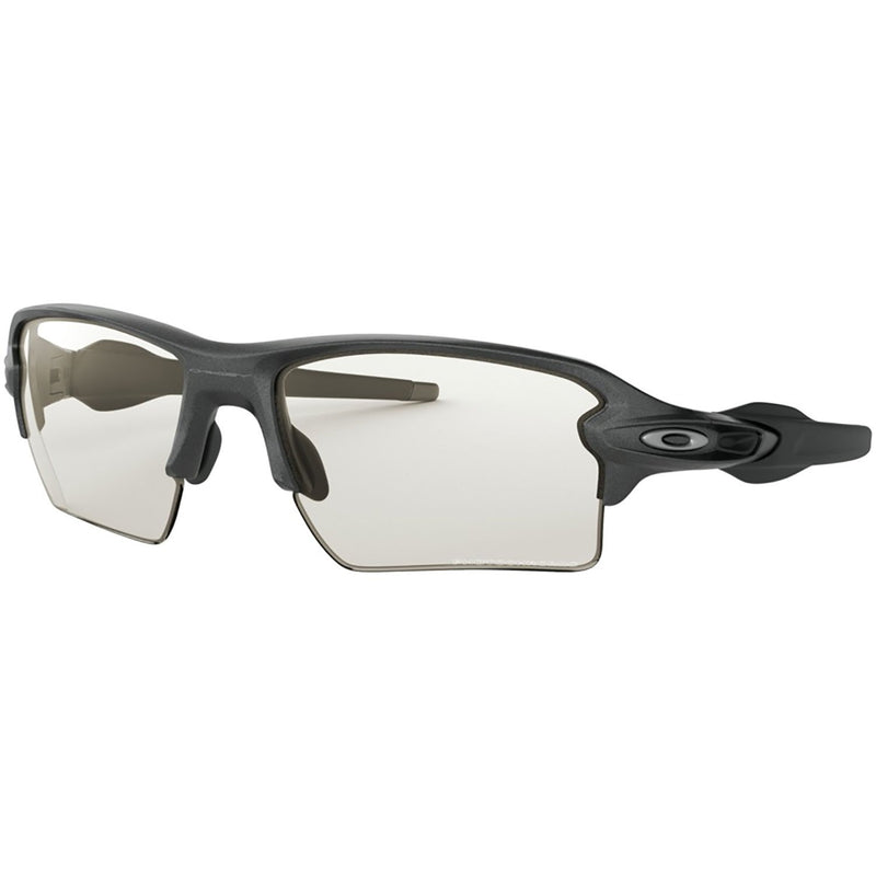 Oakley Flak 2.0 XL Sunglasses Steel / Clear Black Iridium Photochromic