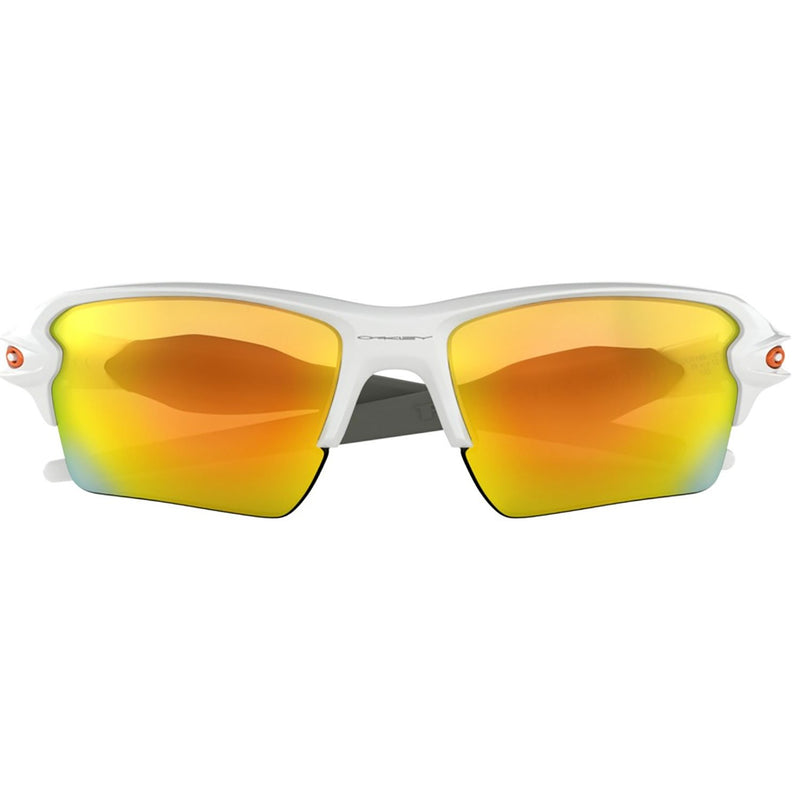 Oakley Flak 2.0 XL Sunglasses Polished White / Fire Iridium