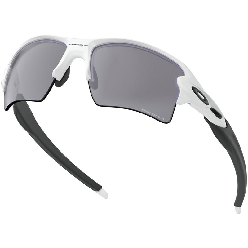 Oakley Flak 2.0 XL Sunglasses Polished White/Black / Prizm Black Polarized