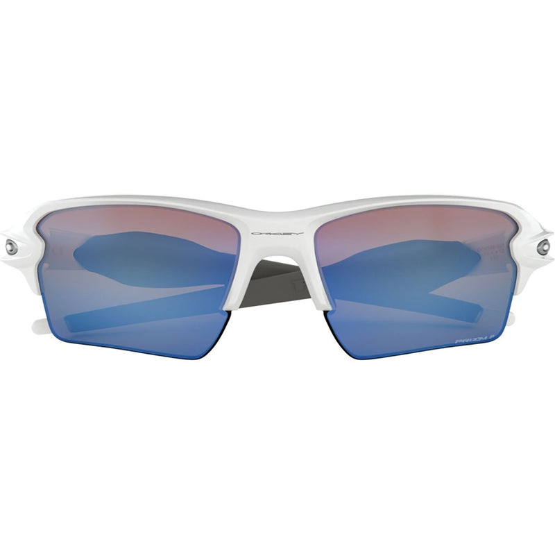 Oakley Flak 2.0 XL Sunglasses Polished White / Prizm Deep Water Polarized