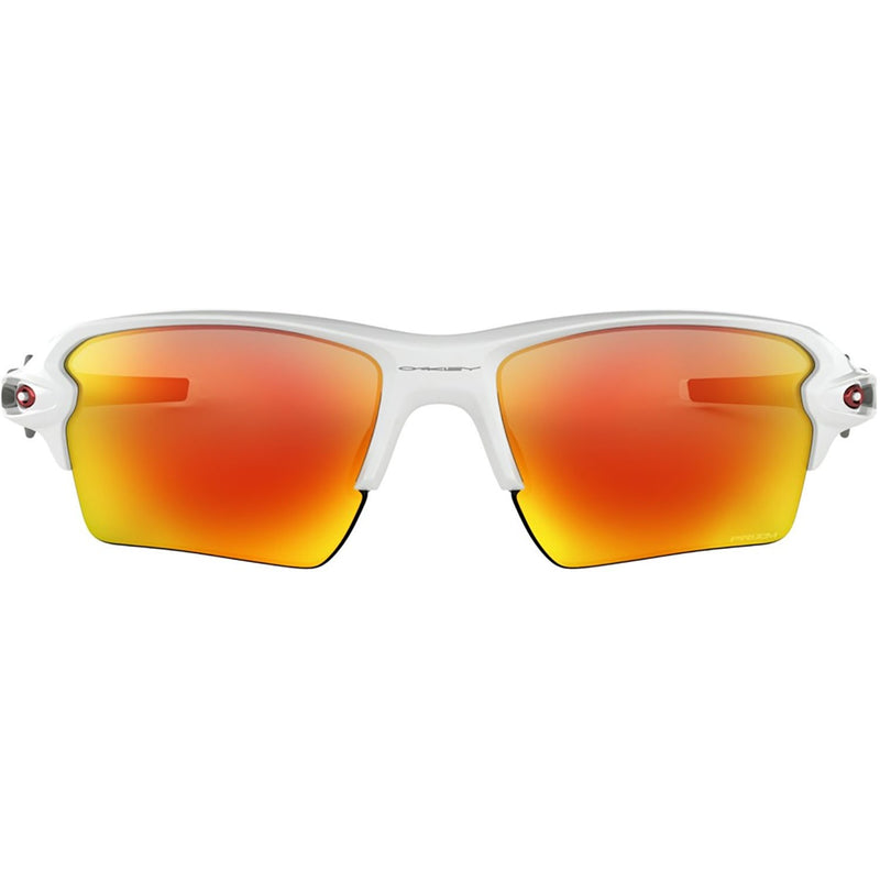 Oakley Flak 2.0 XL Sunglasses Polished White / Prizm Ruby