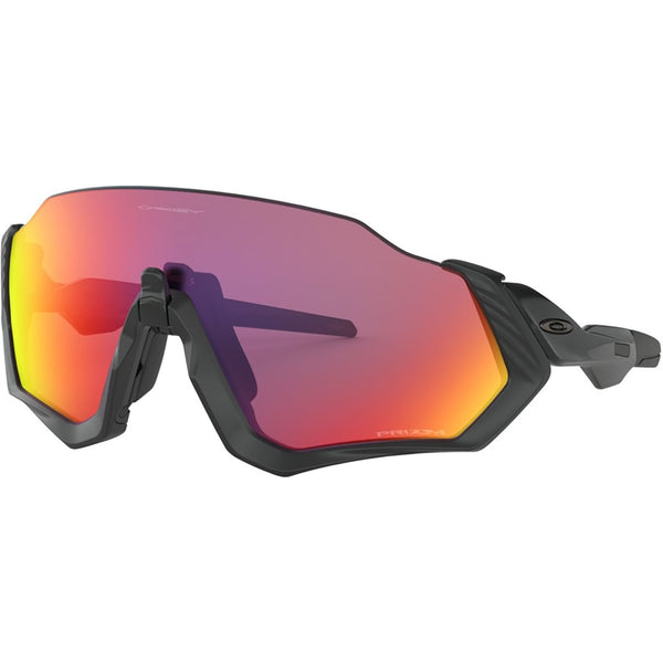 Oakley Flight Jacket Sunglasses Matte Black / Prizm Road #color_Matte Black / Prizm Road