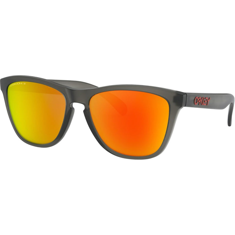 Oakley Frogskins Sunglasses Matte Grey Smoke / Prizm Ruby Polarized