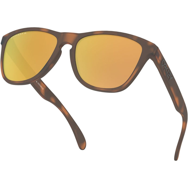 Oakley Frogskins Sunglasses Matte Brown Tortoise / Prizm Rose Gold Polarized