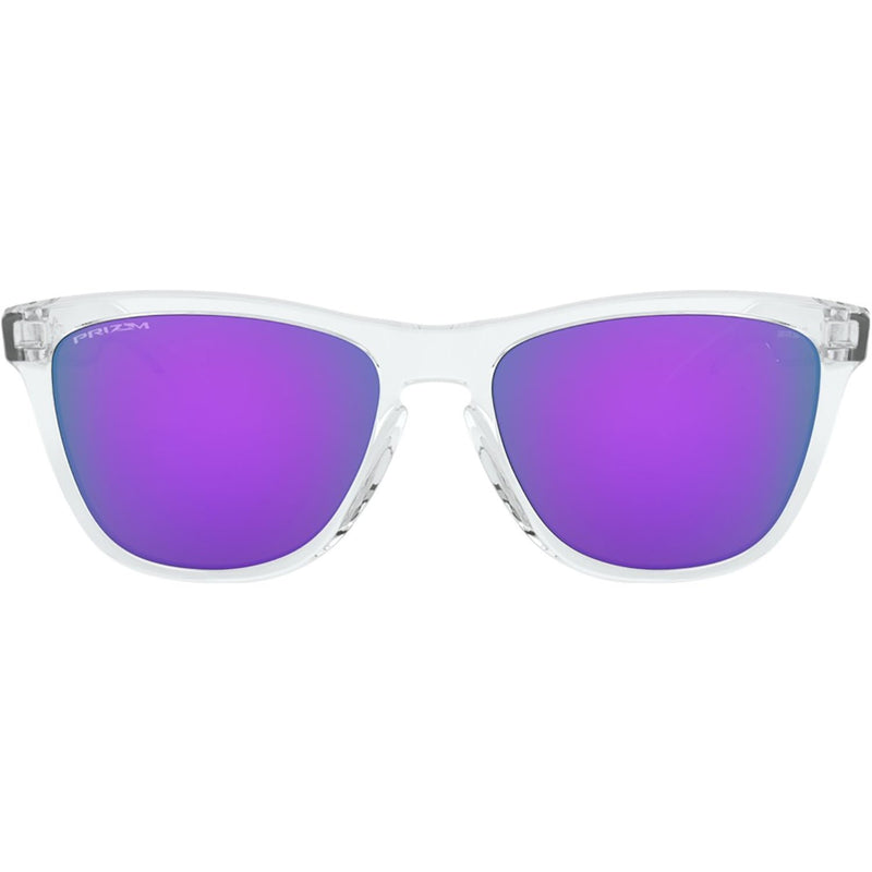 Oakley Frogskins Sunglasses Polished Clear / Prizm Violet