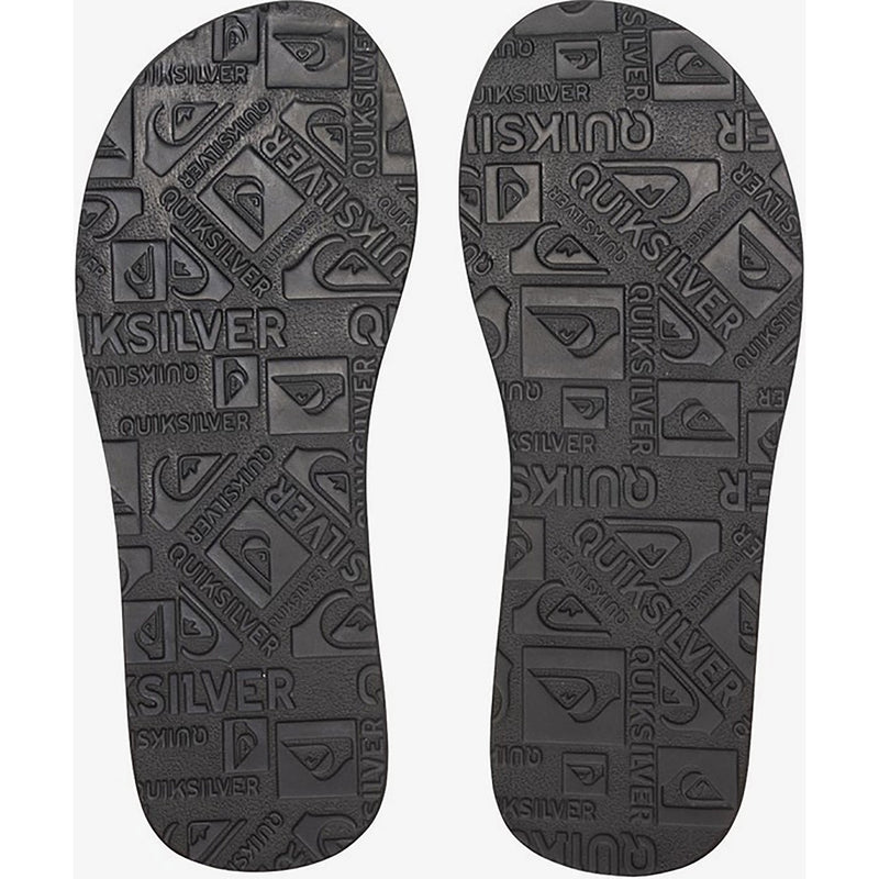Quiksilver Carver Suede Leather Flip-Flop Sandal Solid Black