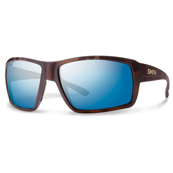 Smith Optics Colson Sunglasses Matte Tortoise / Chromapop Polarized Blue Mirror #color_Matte Tortoise / Chromapop Polarized Blue Mirror
