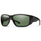 Smith Optics Freespool Mag Sunglasses Matte Black / ChromaPop Polarized Grey Green #color_Matte Black / ChromaPop Polarized Grey Green