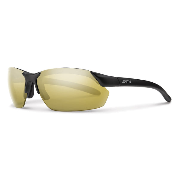 Smith Optics Parallel Max Sports Sunglasses Matte Black / Gold Mirror Carbonic Polarized #color_Matte Black / Gold Mirror Carbonic Polarized