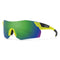 Smith Optics Pivlock Arena Max Sports Sunglasses Matte Acid / ChromaPop Sun Green Mirror #color_Matte Acid / ChromaPop Sun Green Mirror