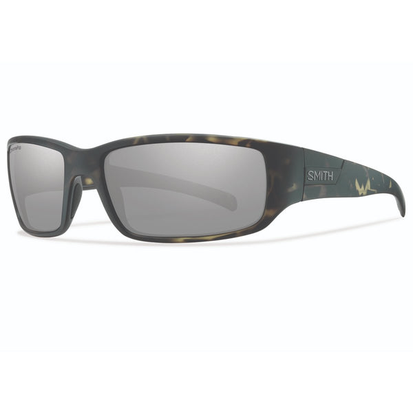 Smith Optics Prospect Sunglasses Matte Camo / ChromaPop Polarized Platinum Mirror #color_Matte Camo / ChromaPop Polarized Platinum Mirror