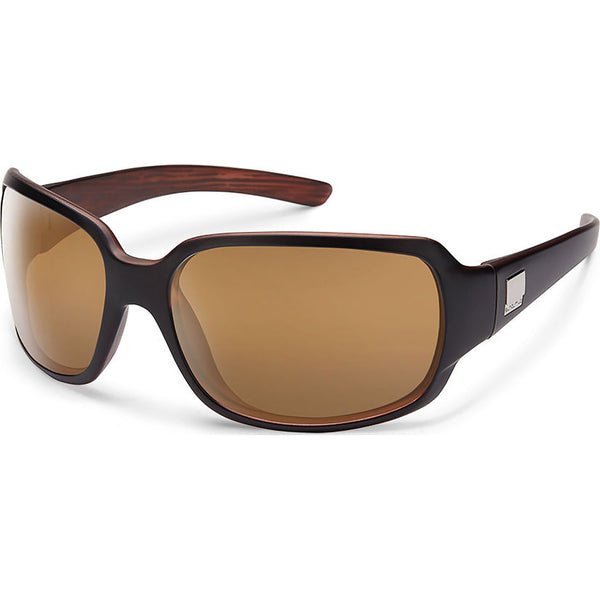 Suncloud Optics Cookie Sunglasses Matte Black Backpaint / Polar Sienna Mirror #color_Matte Black Backpaint / Polar Sienna Mirror