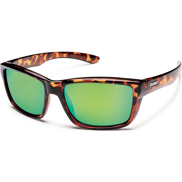Suncloud Optics Mayor Sunglasses Tortoise / Polar Green Mirror #color_Tortoise / Polar Green Mirror