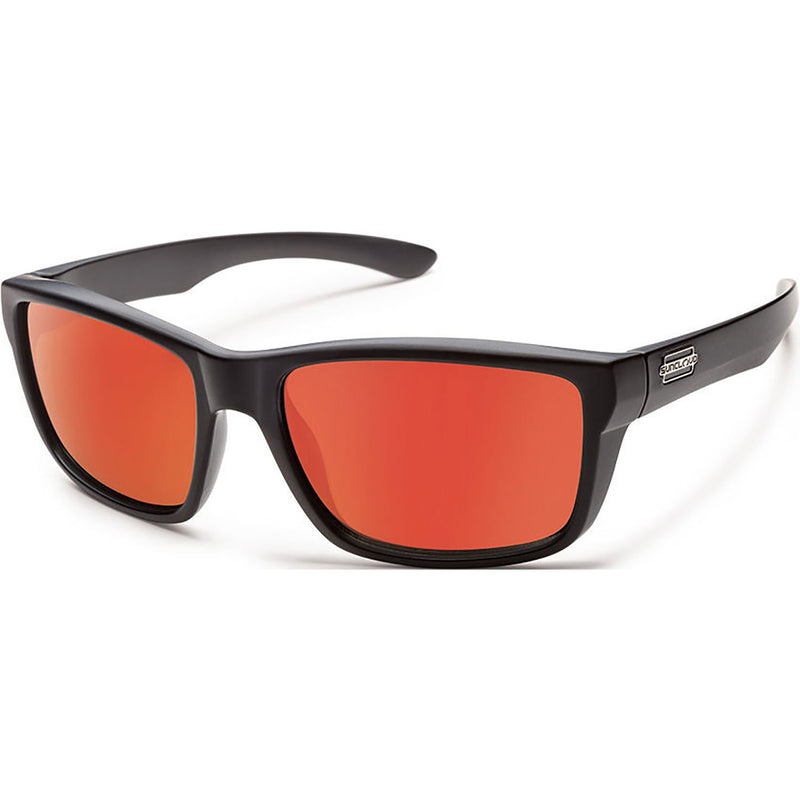Suncloud Optics Mayor Sunglasses Matte Black / Polar Red Mirror
