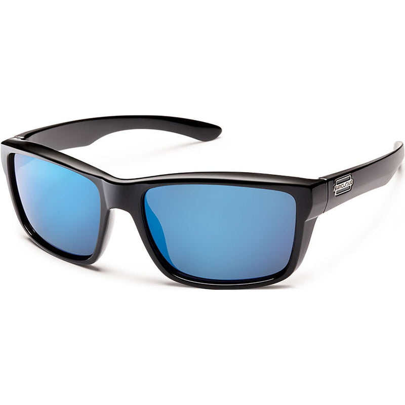 Suncloud Optics Mayor Sunglasses Black / Polar Blue Mirror