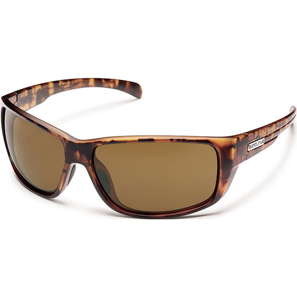 Suncloud Optics Milestone Sunglasses Matte Tortoise / Polar Brown #color_Matte Tortoise / Polar Brown