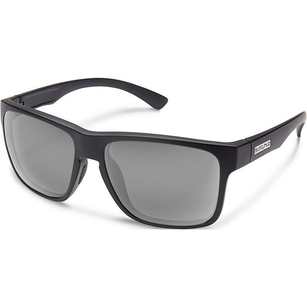 Suncloud Optics Rambler Sunglasses Matte Black / Polar Gray #color_Matte Black / Polar Gray