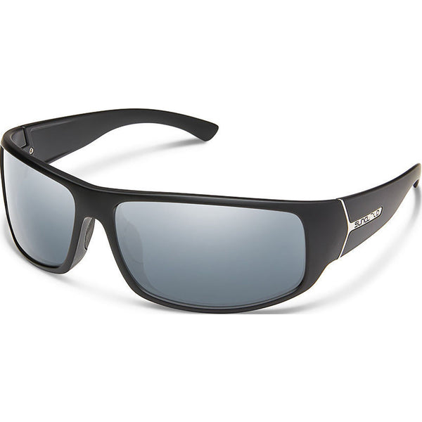 Suncloud Optics Turbine Sunglasses Matte Black / Polar Silver Mirror #color_Matte Black / Polar Silver Mirror
