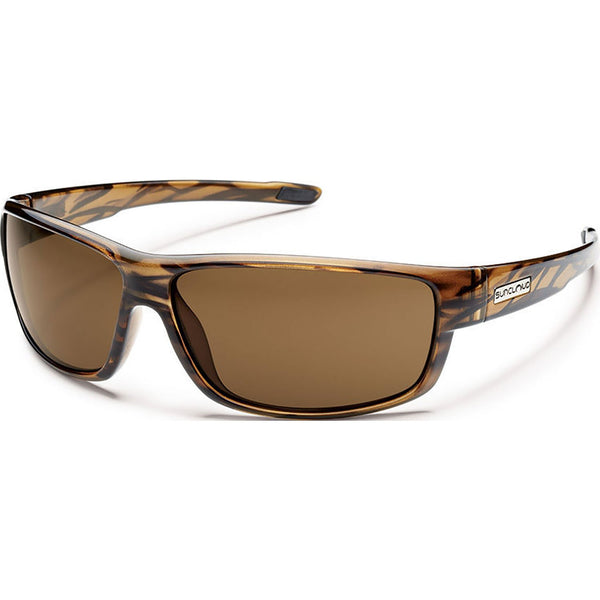 Suncloud Optics Voucher Sunglasses Brown Stripe / Polar Brown #color_Brown Stripe / Polar Brown